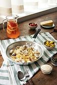 봉골레 (스파게티), 스파게티, 요리 (음식상태), 음식, 요리하기, 식탁보, 아침식사