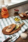 연어 (생선요리), 훈제연어, 음식, 연어스테이크, 식탁 (테이블)