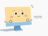 아이콘, 교육 (주제), 캐릭터, 귀여움, 공부 (움직이는활동), 아이디어, 창의성 (컨셉)