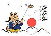 개띠해 (십이지신), 2018년, 새해 (홀리데이), 한국명절 (한국문화), 캘리그래피 (문자)