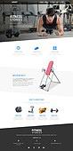 웹템플릿, User interface (Topic), 레이아웃, 메인페이지 (이미지), 운동 (스포츠), 다이어트, 헬스클럽 (레저시설), 운동기구, 한국인