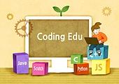 교육 (주제), 어린이, 상상력 (컨셉), 4차산업혁명 (산업혁명), 코딩교육