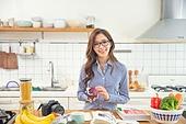 한국인, 여성, 부엌, 요리하기 (음식준비), 음식준비, 요리사, 푸드스타일리스트, 미소