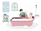 복지, 라이프스타일, 노인, 은퇴 (주제), 자원봉사자 (역할), 욕실