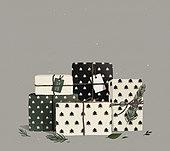 선물 (인조물건), 축하 (컨셉), 감사, 선물상자