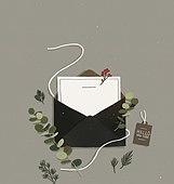 선물 (인조물건), 축하이벤트 (사건), 크리스마스, 축하 (컨셉), 편지, 초대장