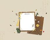 전통문화 (주제), 새해 (홀리데이), 감사, 편지, 초대장