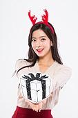 20대여자, 누끼, 한국인, 라이프스타일, 크리스마스, 겨울, 크리스마스선물