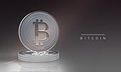비트코인, 블록체인, 화폐, 금융, 가상화폐, 그래픽이미지, 합성, 동전