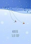 일러스트 (이미지), 겨울, 백그라운드 (주제), 카피스페이스 (구도), 이벤트페이지, 눈 (얼어있는물)