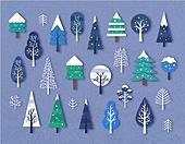 일러스트, 아이콘모음, 겨울, 크리스마스, 축하이벤트 (사건)