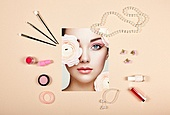 Fashion lady accessories collage