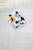 한국인, 대학생, 탑앵글, 공부 (움직이는활동), 대학교