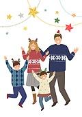 크리스마스, 겨울, 가족, 행복, 함께함 (컨셉), 연례행사 (사건), 연말, 즐거움 (컨셉)