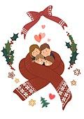 크리스마스, 겨울, 가족, 행복, 함께함 (컨셉), 연례행사 (사건), 연말, 목도리, 하트