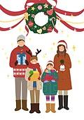 크리스마스, 겨울, 가족, 행복, 함께함 (컨셉), 연례행사 (사건), 연말, 선물상자