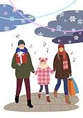 크리스마스, 겨울, 가족, 행복, 함께함 (컨셉), 연례행사 (사건), 연말, 눈 (얼어있는물), 쇼핑