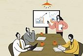 비즈니스, 비즈니스맨, 팀워크, 협력 (컨셉), 함께함 (컨셉), 희망, 발전 (컨셉), 비즈니스미팅 (미팅), 회의실
