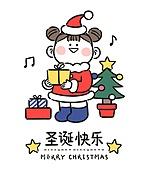 캐릭터, 중국 (동아시아), 중국문화 (세계문화), 상업이벤트 (사건), 크리스마스, 선물 (인조물건)