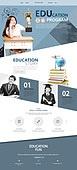 웹템플릿, 메인페이지 (이미지), 홈페이지, 레이아웃, 교육 (주제), 학교, 학원, 학생, 중학생 (초중고생), 교복, 한국인