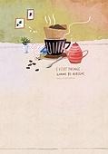 일러스트 (이미지), 책표지, 우편엽서 (편지), 포스터, 백그라운드, 수채화 (회화기법), 카피스페이스 (구도), 레이아웃, 동화, 미니어쳐 (공예품), 커피 (뜨거운음료)