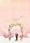 일러스트 (이미지), 책표지, 우편엽서 (편지), 포스터, 백그라운드, 수채화 (회화기법), 카피스페이스 (구도), 레이아웃, 동화, 미니어쳐 (공예품), 결혼 (사건), 축하이벤트 (사건)