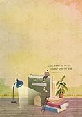 일러스트 (이미지), 책표지, 우편엽서 (편지), 포스터, 백그라운드, 수채화 (회화기법), 카피스페이스 (구도), 레이아웃, 동화, 미니어쳐 (공예품)