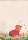일러스트 (이미지), 책표지, 우편엽서 (편지), 포스터, 백그라운드, 수채화 (회화기법), 카피스페이스 (구도), 레이아웃, 동화, 미니어쳐 (공예품), 크리스마스, 양말