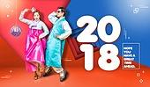신년, 새해, 이벤트, 템플릿