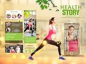 웹템플릿, UI KIT, 모바일템플릿, 건강관리 (주제), 운동 (스포츠), 다이어트, 한국인, 남성, 여성