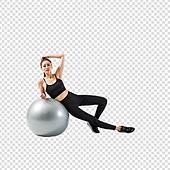 파워포인트 (이미지), PNG, 누끼, 누끼 (컷아웃), 한국인, 여성, 요가, 운동 (스포츠), 다이어트, 필라테스 (이완운동), 다이어트 (체형관리), 20-29세 (청년), 짐볼