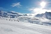 Ski resort slope (Cervinia, Italy); horizontal orientation