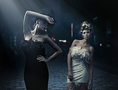 Fine art photo of a two fashion ladies