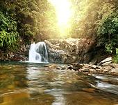 Waterfall on Sri Lanka,Horton Place