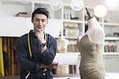 Portrait of male fashion designer