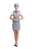 Portrait of smiling Chinese airline stewardess