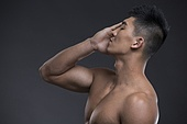 Young Chinese muscular man
