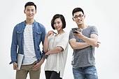 Portrait of confident Chinese designer team