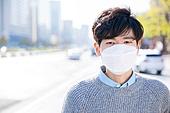 한국인, 남성, 스모그 (대기오염), 먼지, 감기, 대기오염, 공해 (환경오염)