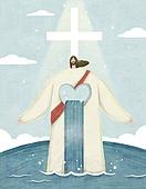 기독교, 종교, 예수, 회복 (컨셉), 십자가, 빛 (자연현상), 평화