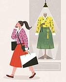 라이프스타일, 한복, 전통문화 (주제), 생활한복, 상품진열 (소매업장비), 쇼핑