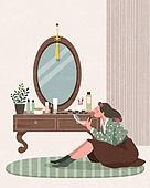 라이프스타일, 한복, 전통문화 (주제), 생활한복, 화장 (미용제품), 화장대
