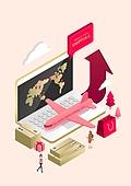 쇼핑, 스마트폰, 모바일쇼핑, 선물 (인조물건), 상업이벤트 (사건), 비행기, 소포 (포장), 쇼핑백, 해외직구 (상업활동), 온라인쇼핑