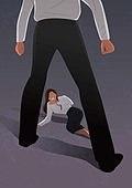 비즈니스, 네거티브이미지, 어두운표정 (감정), 스트레스 (컨셉), 성희롱, 비즈니스우먼, 폭력, 성폭력