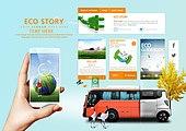 웹템플릿, 휴대폰 (전화기), 모바일템플릿 (유저인터페이스), User interface (Topic), UI KIT, 레이아웃, 환경보호 (환경), 대체에너지 (연료와전력발전), 에너지 (컨셉), 녹색 (색상), 환경 (주제), 환경오염