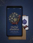 스마트폰, 편지, 연하장 (축하카드), 연례행사, 크리스마스, 크리스마스오너먼트 (크리스마스데코레이션), 연말
