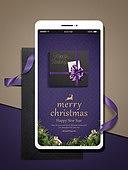 스마트폰, 편지, 연하장 (축하카드), 연례행사, 크리스마스, 크리스마스오너먼트 (크리스마스데코레이션), 연말, 선물상자, 리본 (장식품)