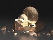 그래픽이미지 (Computer Graphics), 비트코인, 가상화폐, 투자, 금융, 동전 (화폐)