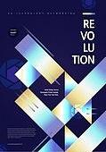 포스터, 5G, 4차산업혁명 (산업혁명), 초현대적 (컨셉), 기하학 (수학), 기하학모양, 혁명 (세계역사사건)
