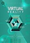 포스터, 5G, 4차산업혁명 (산업혁명), 초현대적 (컨셉), 기하학 (수학), 기하학모양, 육각형 (이차원모양), 안테나